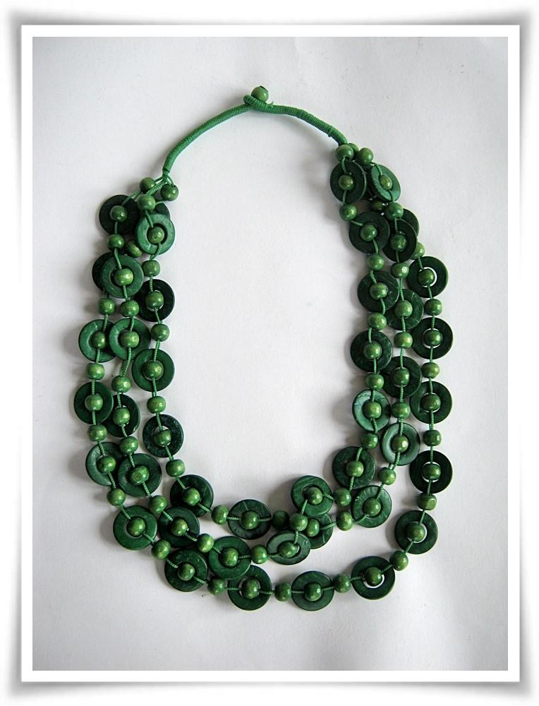 nuovo di zecca 66874 ef74f Collana girocollo in cocco colorato verde