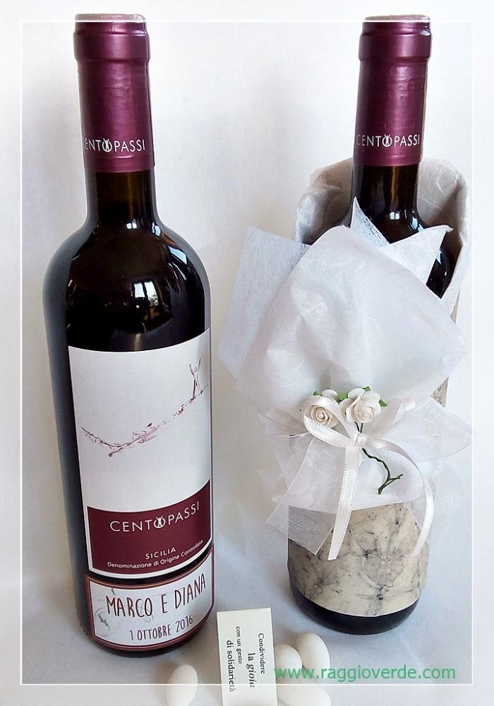 Bomboniere Vino Matrimonio.Bomboniera Solidale Vino 100 Passi Novita Bomboniere 2020